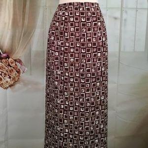 A. Byer California Brown Long Skirt